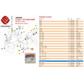 Anodo Zinco Piede Motore Marino Yamaha Selva codice 67C452510000