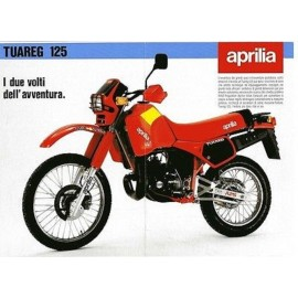Serie adesivi serbatoio Aprilia Tuareg 125 colore rosso codice AP8111184
