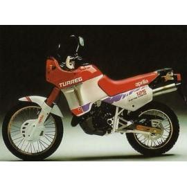 Serie adesivi Aprilia Tuareg 125 anno 1987 colore bianco rosso codice AP8111640