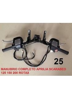 Manubrio usato Aprilia Scarabeo 125 150 200 con pompa freno e comandi luci