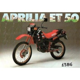 Adesivi fiancatine convogliatori d'aria Aprilia ET 50 colore nero anno 1986 codice AP8211170