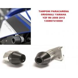 Tamponi paramotore paracatena paratelaio Yamaha YZF R6 2008 2012 codice 13SW07410000