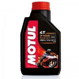 3 litri di olio motore Motul 7100 10W30 4T 100% Sintetico MA2