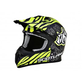 Casco Cross Enduro Motard Quad Scotland  Nero Giallo codice 120010