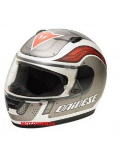 Casco Integrale Moto Dainese D181 Metallic Plate Bianco Grigio Rosso