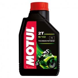 1 litro olio per miscela Motul 510 2Tempi Technosynthese antifumo