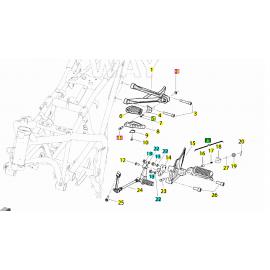 Pedana Poggiapiedi anteriore sinistra Benelli BN 251