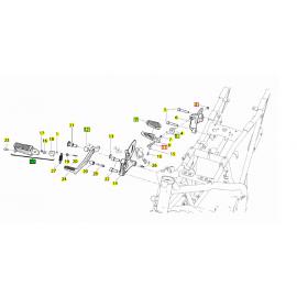 Pedana Poggiapiedi anteriore destra Benelli BN 251